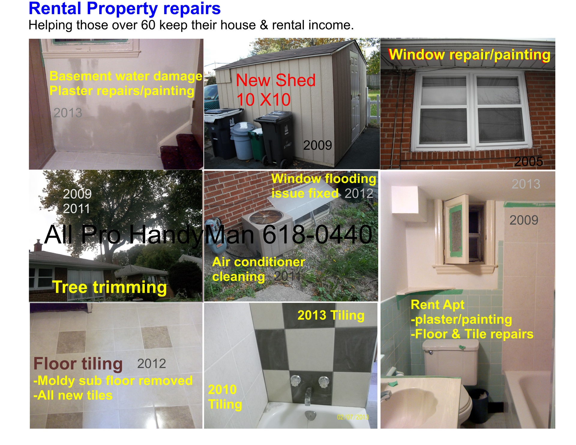 Rental Property - yearly repairs