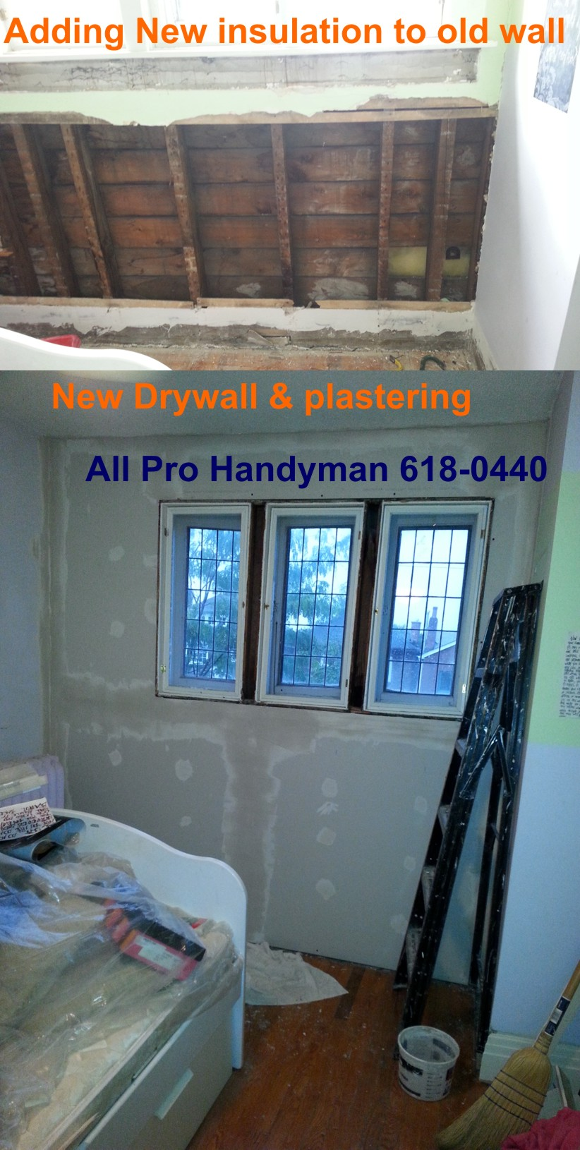 Insulation and Drywall & Plastering