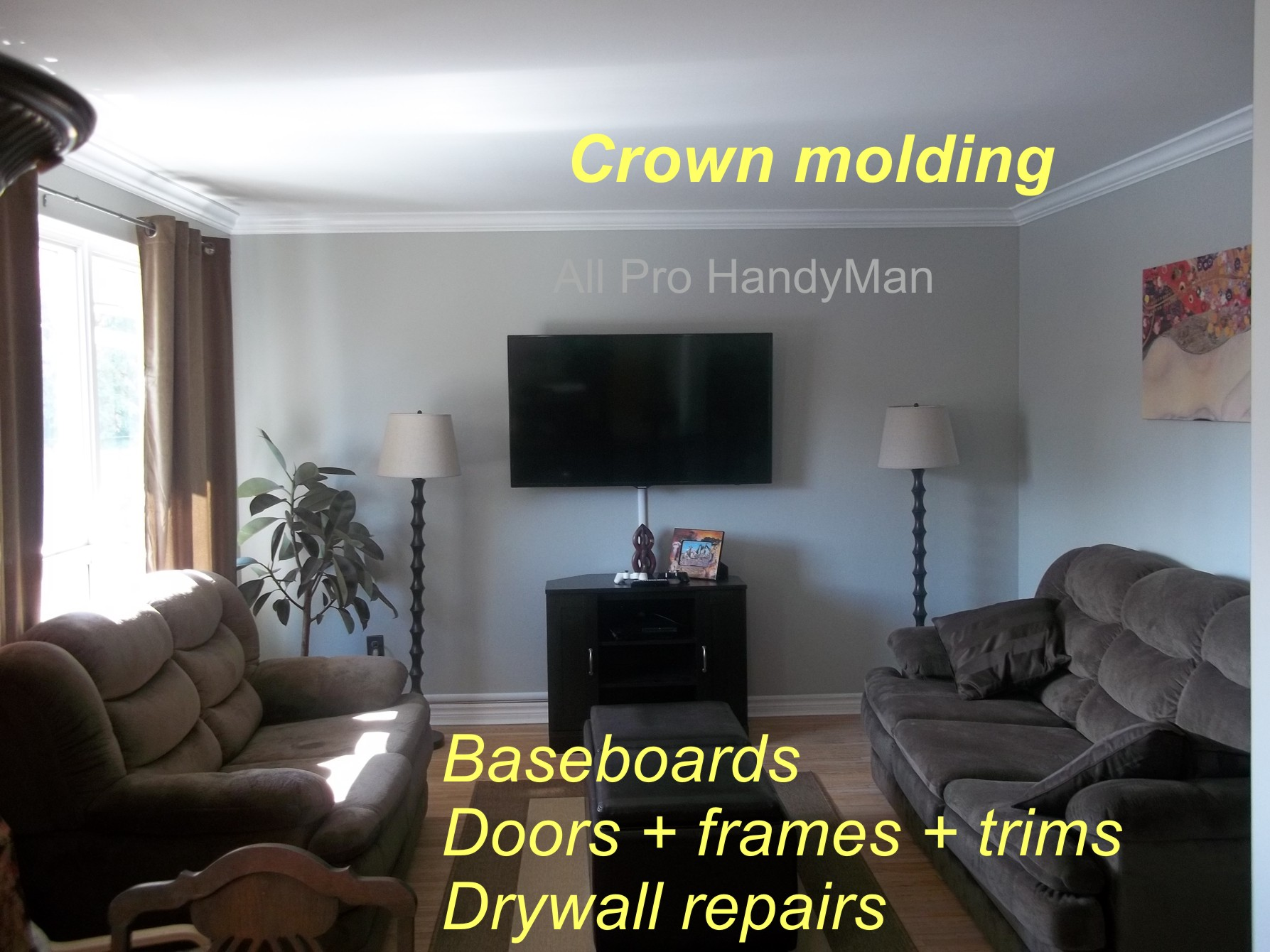 Crown molding and trims