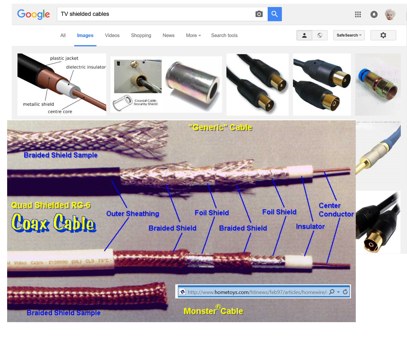 Quad Coaxial Cable- shielded cables