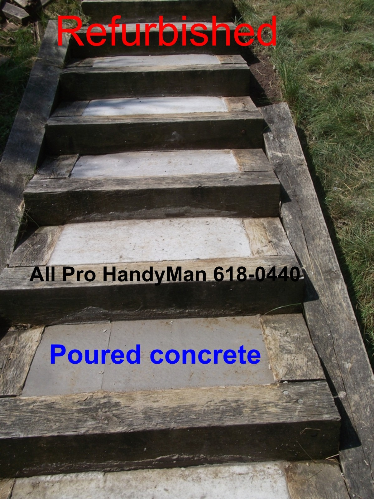 Repairing back yard steps