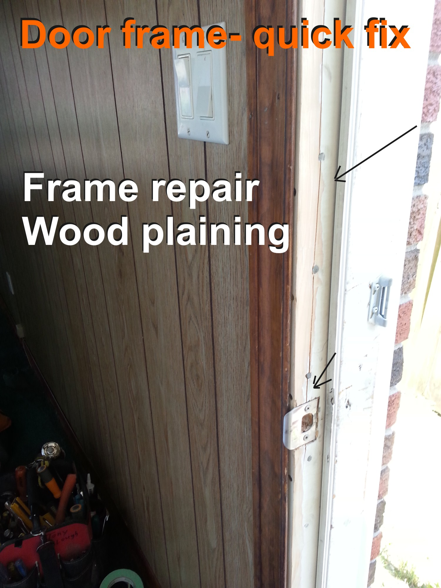 Door crack repair - rental apartment