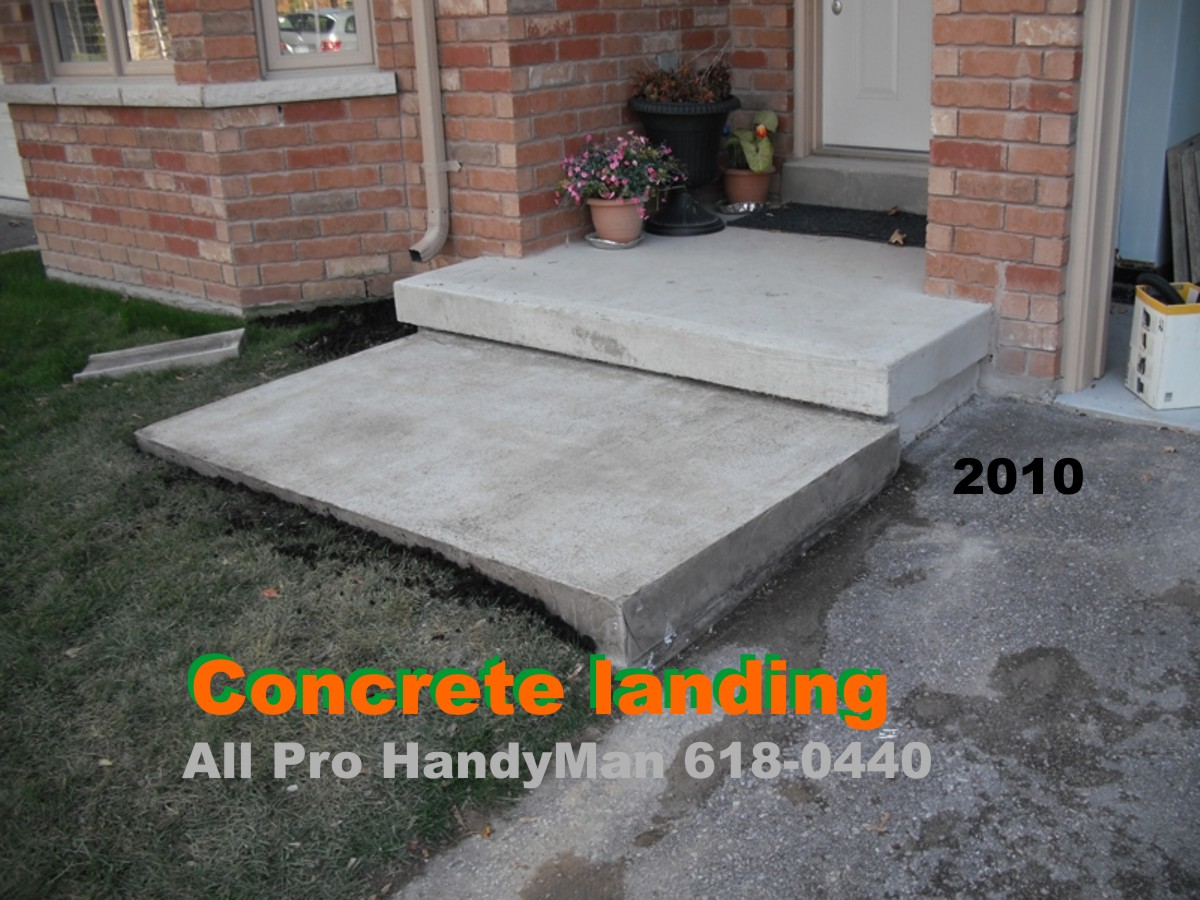 New Concrete landing