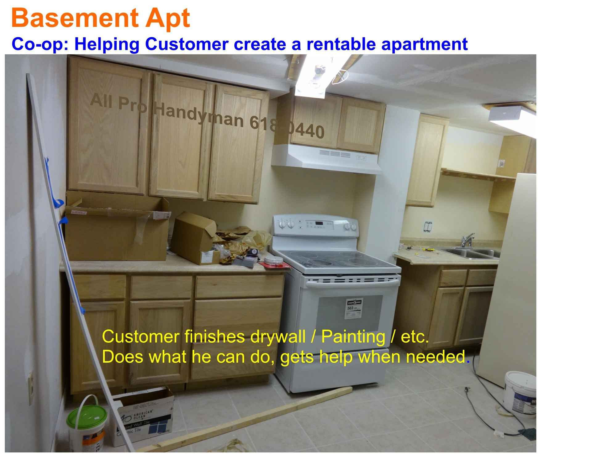 Basement rental aptment